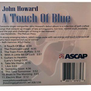 john Howard Touch of Blue Back Cd Cover